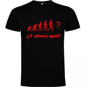 Camiseta hombre evolución Negro logo Rojo
