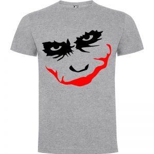Camiseta manga corta para hombre Joker Smile en Color Gris