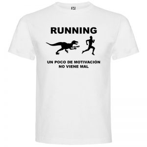 Camiseta RUNNING Hombre color Blanco logo Negro