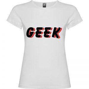 Camiseta mujer Geek Sombra en color banco