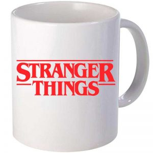 Taza cerámica Stranger Things en color Blanco