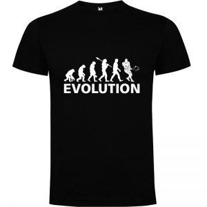 Camiseta manga corta para hombre Evolución Tenis en color negro