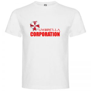 camiseta Umbrella Corporation Resident Evil en color blanco