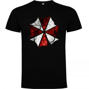 camiseta Umbrella Resident Evil en color negro