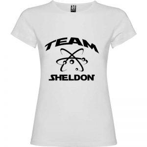 Camiseta para mujer Big Bang Team Sheldon en color Blanco