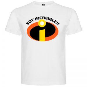 Camiseta para hombre Soy Increible en color Blanco