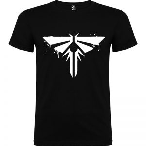 Camiseta para chico tThe last Of Us Firefly color negro logo en blanco