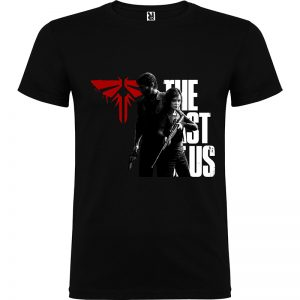 Camiseta para chico The last Of Us Firefly Joel y Ellie color negro